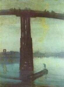 """James Whistler, """"Nocturne: Blue and Gold - Old Battersea Bridge"""" (1872)"""