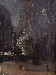 """James Whistler, """"Nocturne in Black and Gold, the Falling Rocket"""" (1875)"""