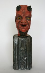 Tabor Porter, carved devil figure, courtesy Guardino Gallery