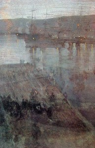 """James Whistler, """"Nocturne in Blue and Gold: Valparaiso Bay"""" (1866)"""