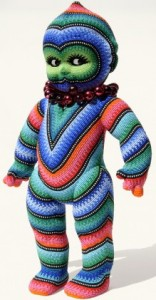 "Jan Huling, ""Kewpo Libre,"" 2010. Mixed media, beads, 16.5 x 9 x 4.5 inches. Lyons Wier Gallery, New York."
