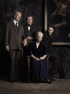 Photo Credit: Jez Smith  The cast of Long Day's Journey Into Night pictured from left: William Hurt, Todd Van Voris, Robyn Nevin, Luke Mullins.