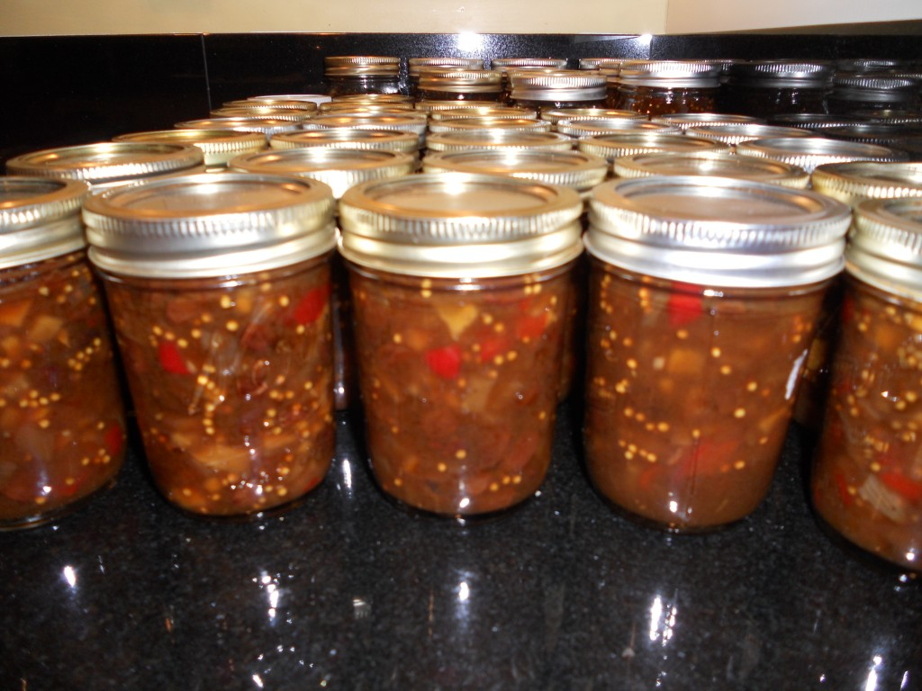 Jars and jars of chutney