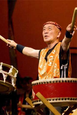 Grand Master Seiichi Tanaka of San Francisco Taiko Dojo