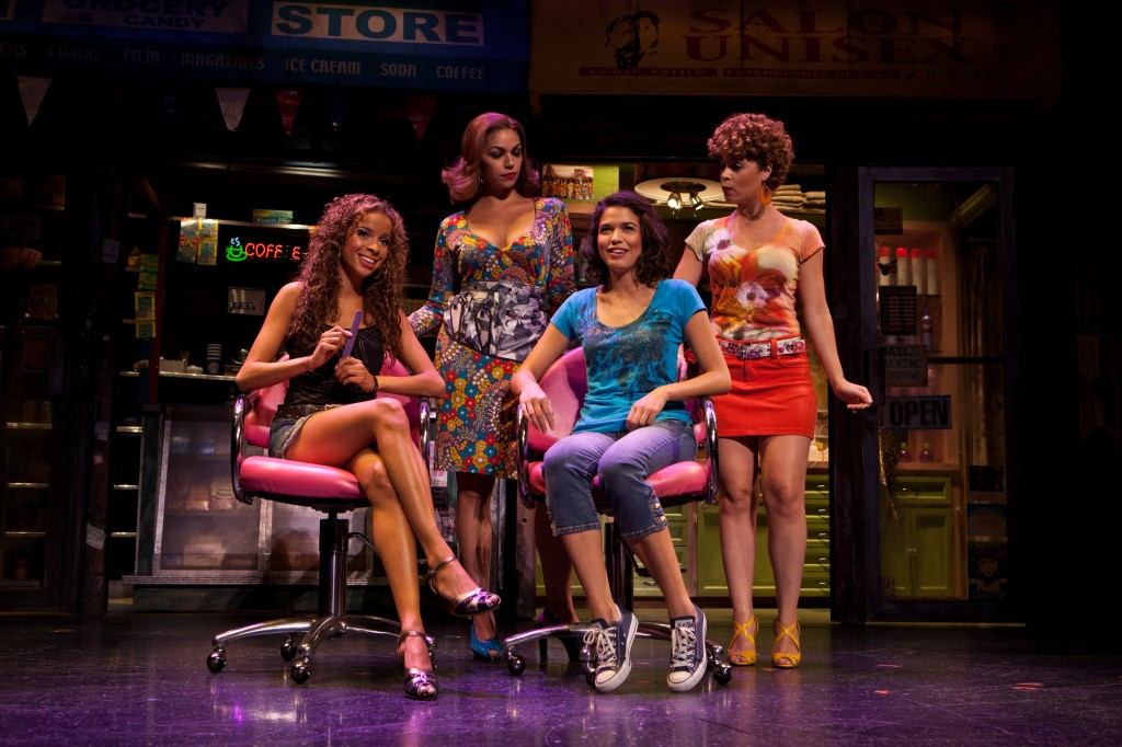 "In the beauty salon, ""In the Heights"": Lexi Lawson, Isabel Santiago, Arielle Jacobs, Genny Lis Padilla. ©Chelsea Lauren 2010"