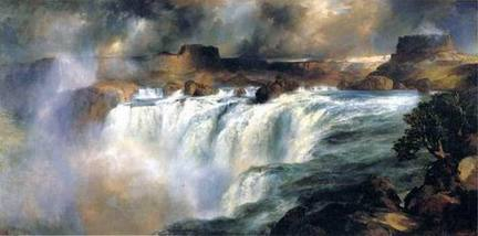 "Thomas Moran, ""Shoshone Falls on the Snake River,"" 1900. Gilcrease Museum, Tulsa, Oklahoma."