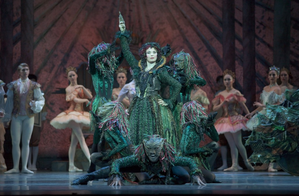 "Gavin Larsen is the wicked Carabosse and Javier Ubell her chief toady in the premiere of Christopher Stowell'sd ""The Sleeping Beauty"" at Oregon Ballet Theatre. Photo: Blaine Truitt Covert"