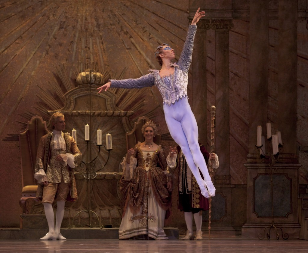 "Lucas Threefoot as the Bluebird in Oregon Ballet Theatre's ""The Sleeping Beauty."" Photo: Blaine Truitt Covert"