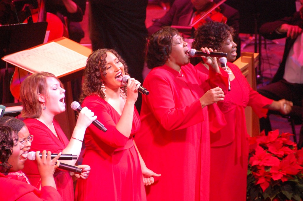 "The Oregon Symphony's annual ""Gospel Christmas"" concert rocks the Arlene Schnitzer Concert Hall."