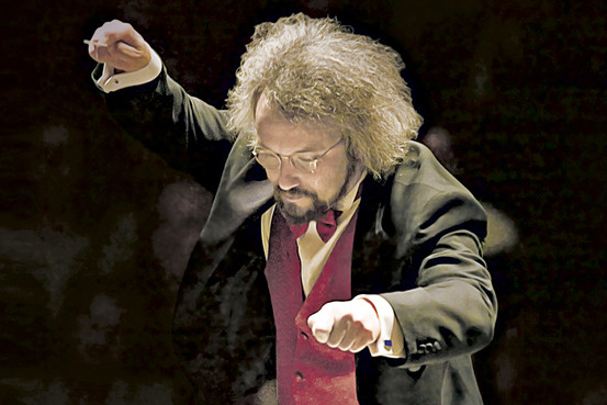Carlos Kalmar conducts the Oregon Symphony. We do our own bit of conducting sometimes in the form of serious scientific experiments.