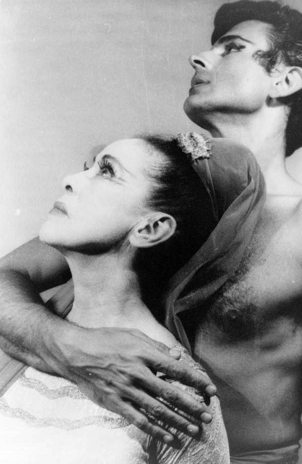 Portrait of Martha Graham and Bertram Ross, June 27, 1961. Library of Congress, Prints and Photographs Division, Van Vechten Collection. Photo: Carl Van Vechten (1880–1964). Wikimedia Commons.