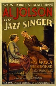 "Movie poster for ""The Jazz Singer,"" 1927. Wikimedia Commons."