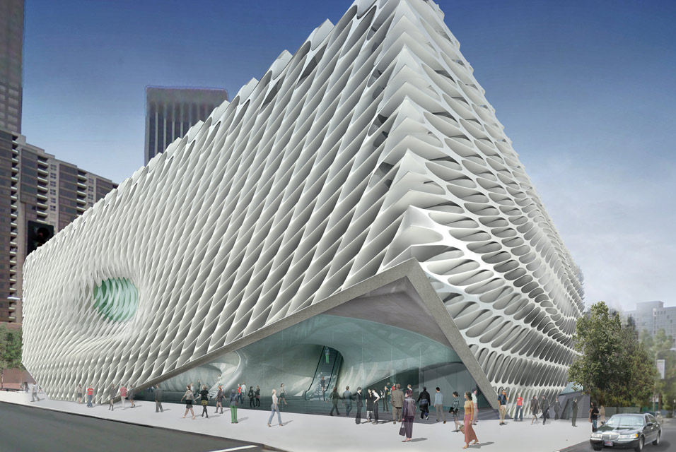 Artist's conception of new Broad Art Foundation in Los Angeles. Diller Scofidio + Renfro