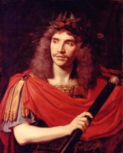 "Nicolas Mignard, ""Portrait of Molière as Julius Ceasar,"" 1658. Musée Carnavalet, Paris. Wikimedia Commons."