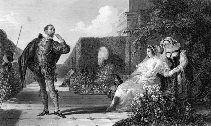 """Malvolio and the Countess,"" 1859. Daniel Maclise (1806-1870), engraved by R. Staines. Wikimedia Commons."
