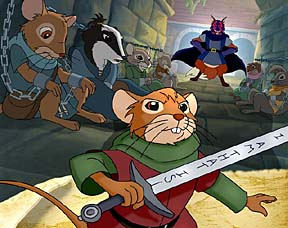 Swashbuckling animal heroes in the Redwall universe.
