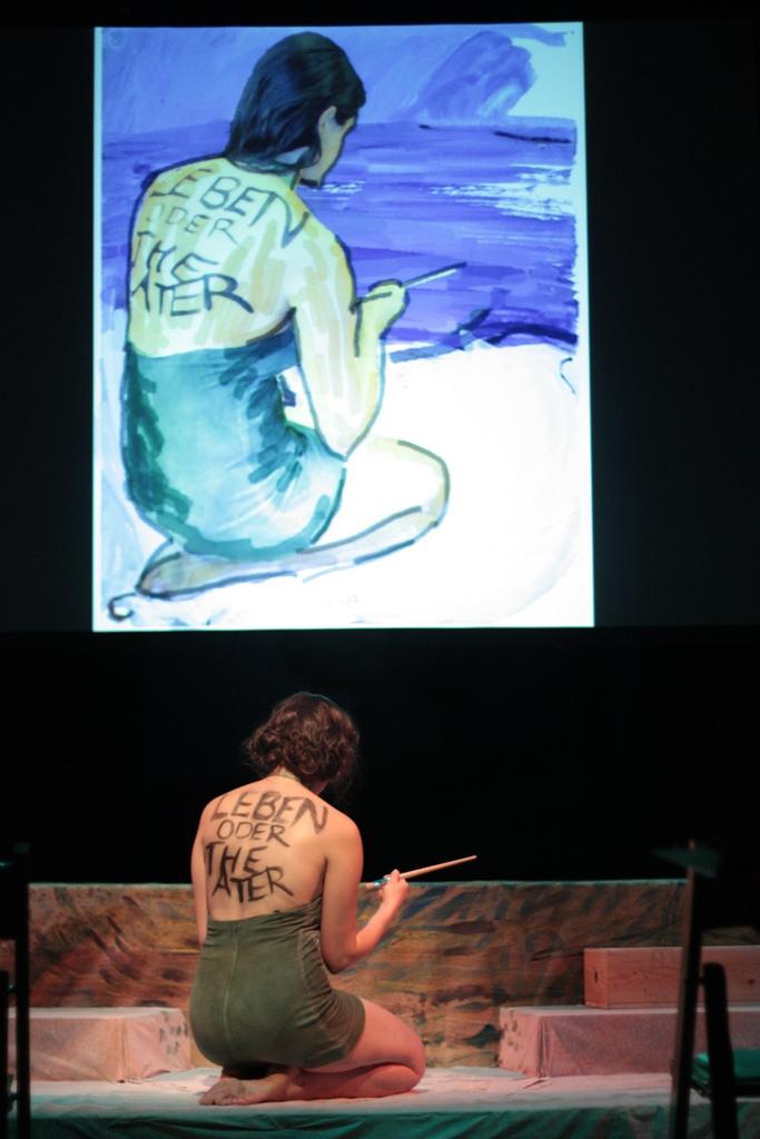 """Jamie M. Rea as Charlotte Salomon in """"Life? or Theater?"""" Photo courtesy Jewish Theatre Collaborative."""