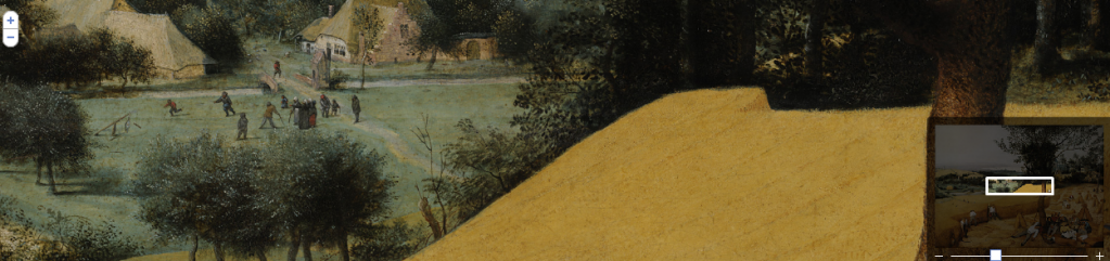 """The Harvesters,"" by Pieter Bruegel the Elder,"" Metropolitan Museum of Art. Detail from Google Art Project."