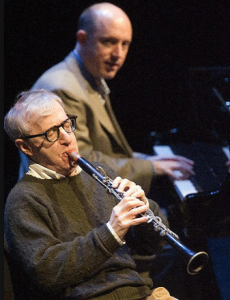Pianist Conal Fowkes with clarinetist Woody Allen