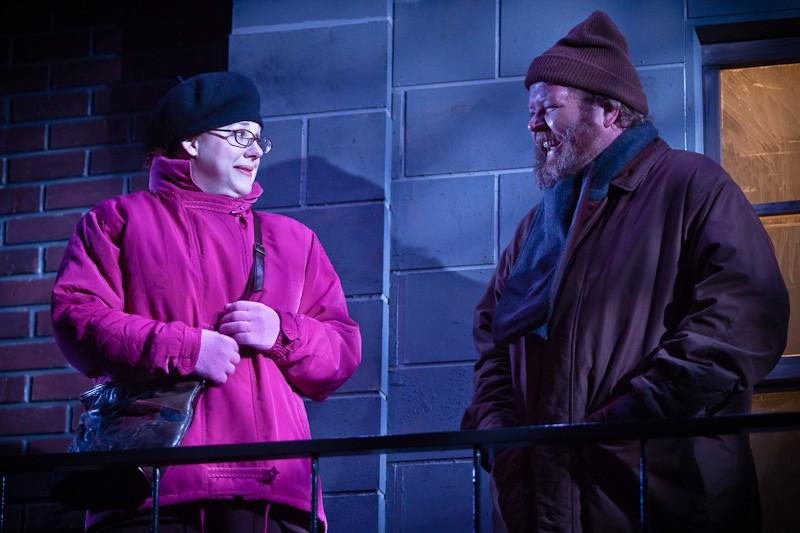 "Emily Sahler Beleele and Todd Van Voris in ""Jack Goes Boating"" at Artists Rep. Photo: Owen Carey."
