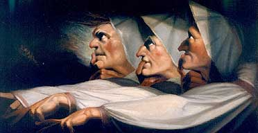 """The Weird Sisters,"" Henry Fuseli, 1783. Wikimedia Commons."