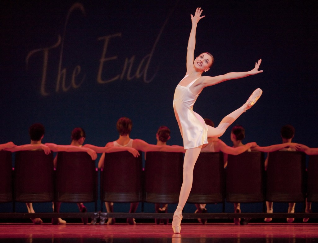 "Anne Mueller in Christopher Stowell's ""Eyes on You"" at Oregon Ballet Theatre. Photo: Blaine Truitt Covert."