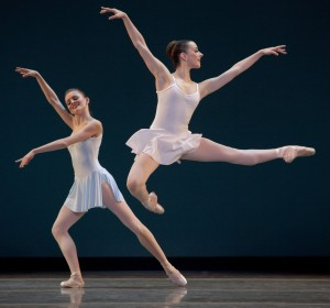"Julia Rowe (foreground) and Olga Krochik in George Balanchine's ""Square Dance."" Photo: Blaine Truitt Covert."