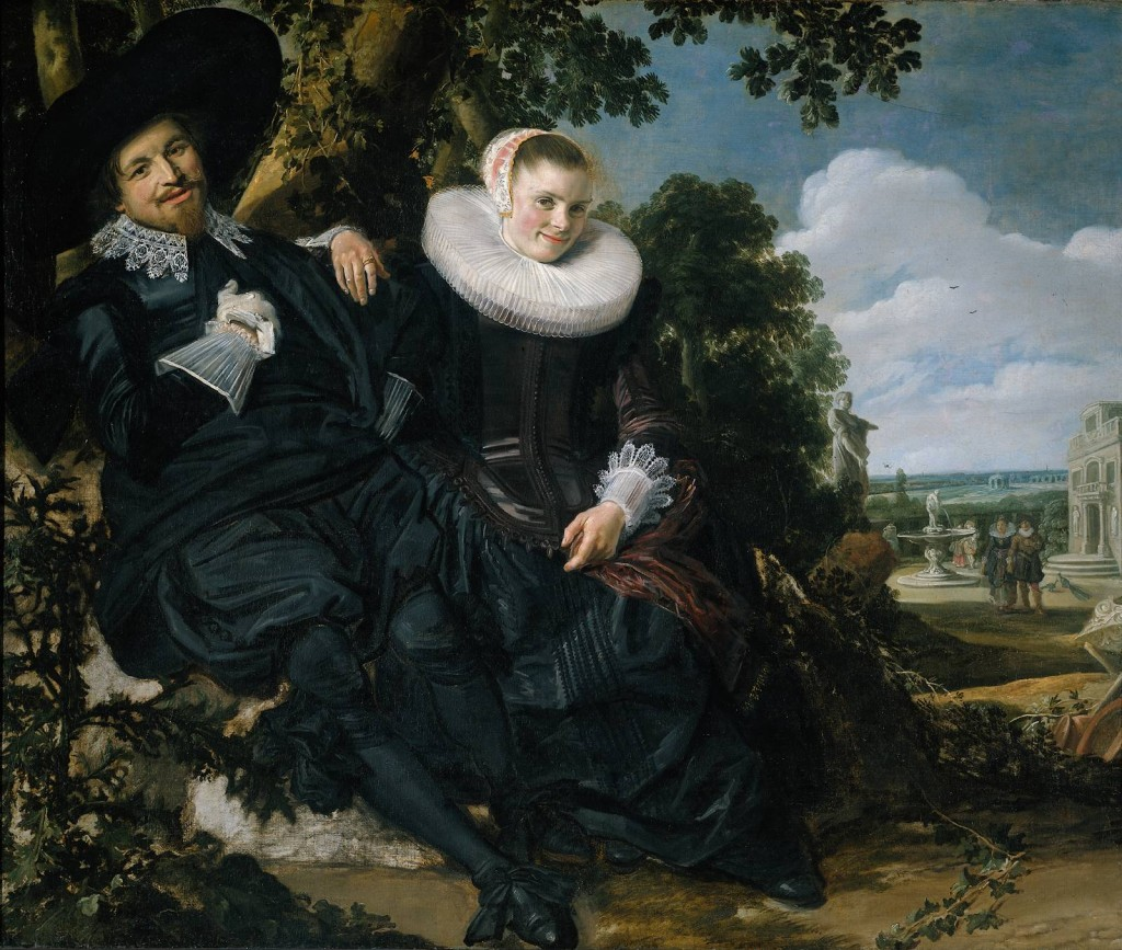 "Frans Hals, ""The Marriage Portrait of Isaac Abrahamsz Massa and Beatrix van der Laen,"" c. 1622. Rijksmuseum/Amsterdam"
