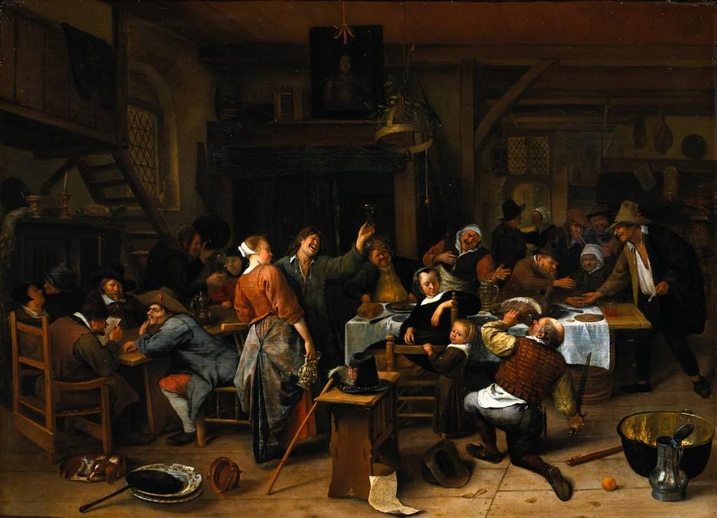 "Jan Steen, ""Prince's Day,"" c. 1660-70. Rijksmuseum/Amsterdam"