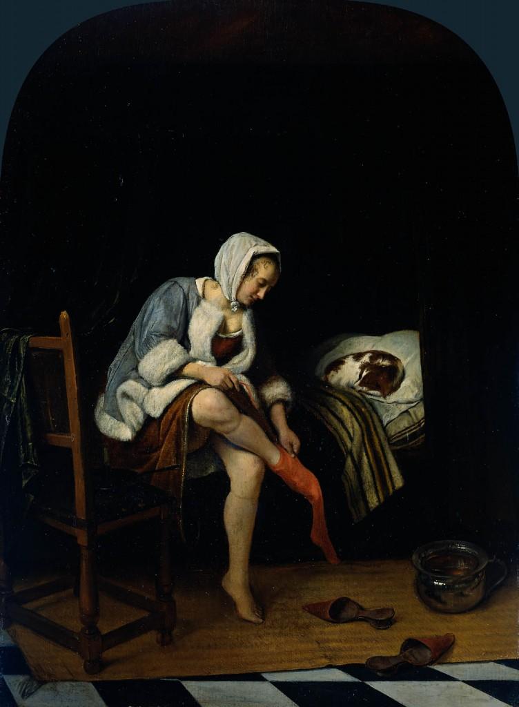 "Jan Steen, ""Woman at Her Toilet,"" c. 1661-65. Rijksmuseum/Amsterdam"