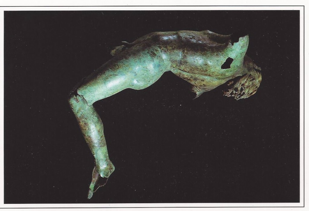The Dancing Satyr in Mazara del Vallo. It was pulled from the sea in 1998 by fishermen, and might be Greek or Roman.