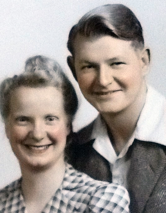 Charlotte and Irby Hicks, around the time of their marriage in 1941.