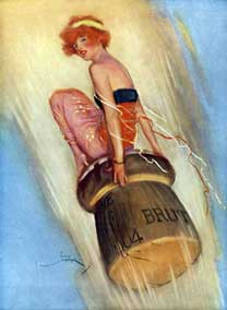 Grape-Shot: 1915 English magazine illustration of a lady riding a champagne cork From The Lordprice Collection This picture is the copyright of the Lordprice Collection and is reproduced on Wikipedia with their permission