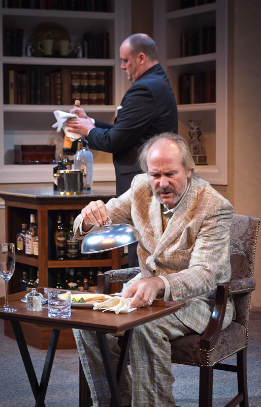 "Tim True (background) and William Hurt in ""No Man's Land"" at Artists Repertory Theatre. Photo: Owen Carey"