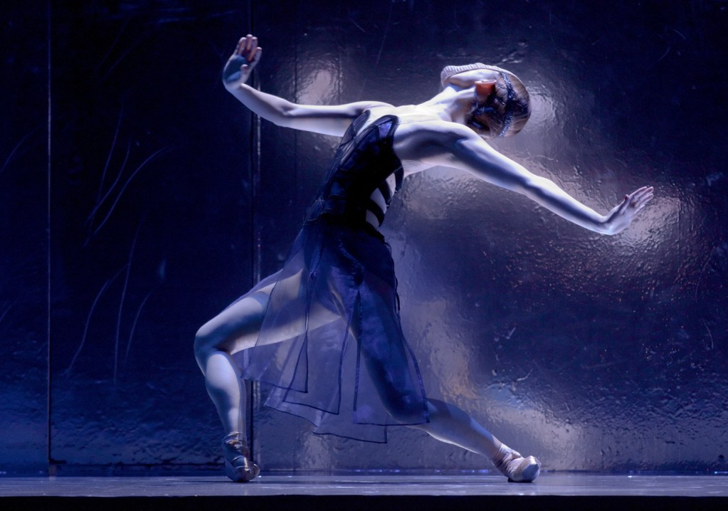 "Yuka Iino as the girl in the mirror in Niolo Fonte's ""Petrouchka"" at Oregon Ballet Theatre. Photo: Blaine Truitt Covert"