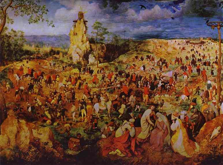 Pieter Bruegel the Elder. The Procession to Calvary. 1564. Oil on panel. Kunsthistorisches Museum, Vienna, Austria.