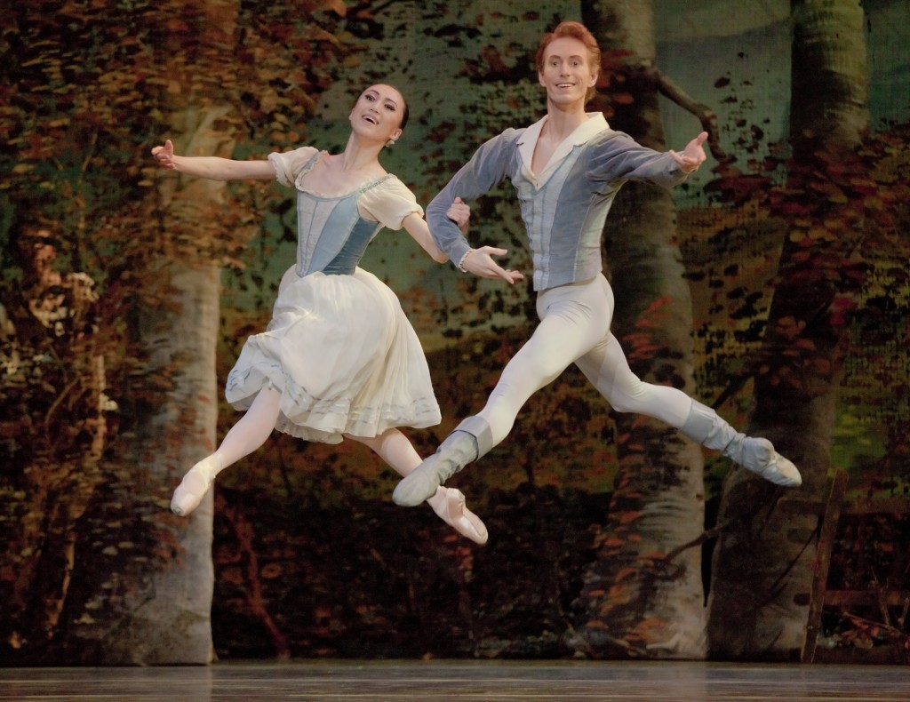 Before the fall: a joyous Haiyan Wu and Chauncey Parsons as Giselle and Albrecht at OBT. Photo: Blaine Truitt Covert.