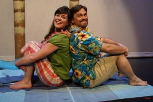 "Melissa Whitney and Peter Schuyler, on the beach in ""Much Ado."" Photo: Jon Gottshall"