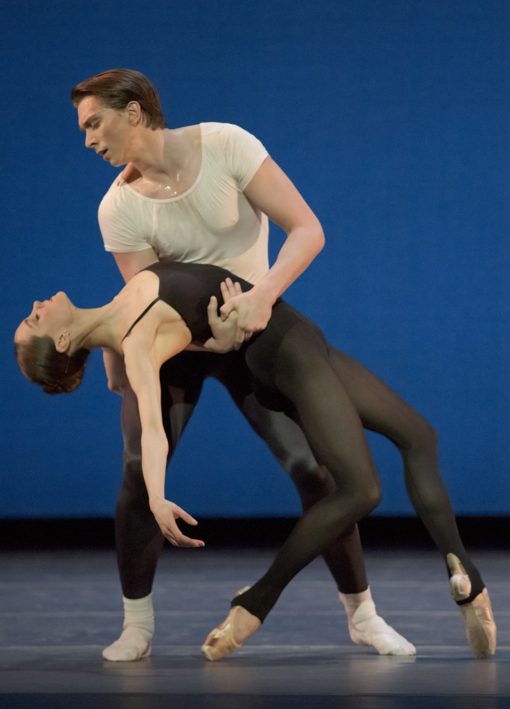 "Grace Shibley and Brett Bauer in Balanchine's ""Stravinsky Violin Concerto."" Photo: Blaine Truitt Covert"