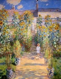 "Claude Monet, ""The Artist's Garden at Vétheuil,"" oil, 1880. National Gallery of Art, Washington, D.C."