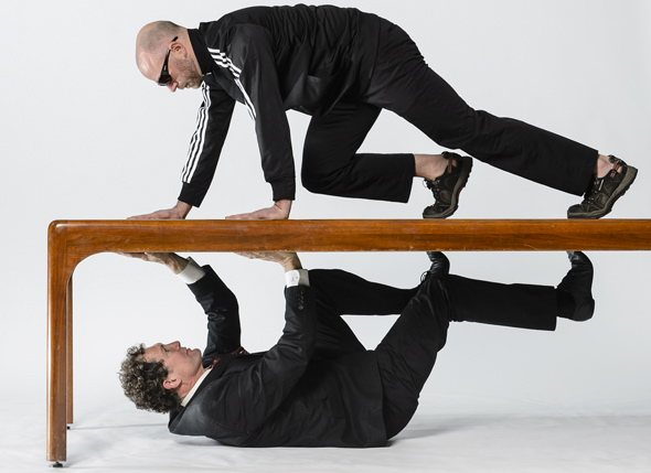 Jonathan Krebs (top) and Jamey Hampton. Photo courtesy BodyVox.