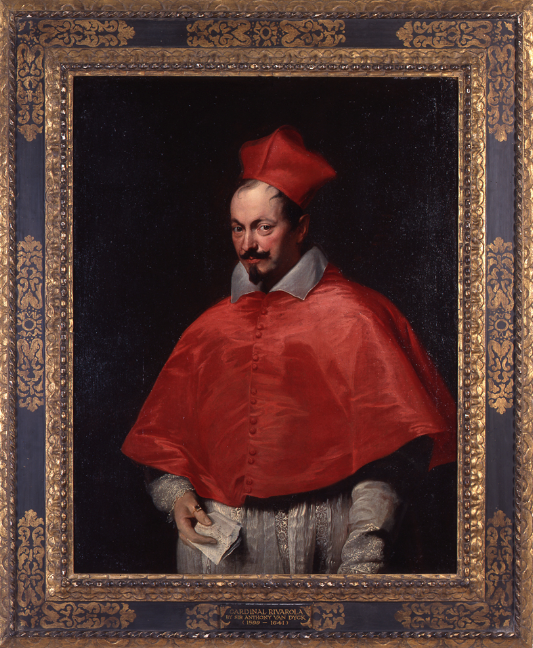 "Anthony Van Dyck, ""Portrait of Cardinal Domenico Rivarola,"" oil on canvas, 1623/24"