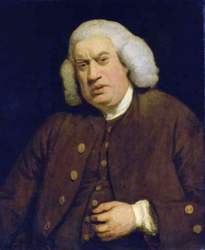 Joshua Reynolds, 1772, Portraot of Samuel Johnson, commissioned for Henry Thrale's Streatham Park gallery; Tate Gallery, London / Wikimedia Commons